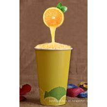 Taza de papel de pared simple para bebidas frías