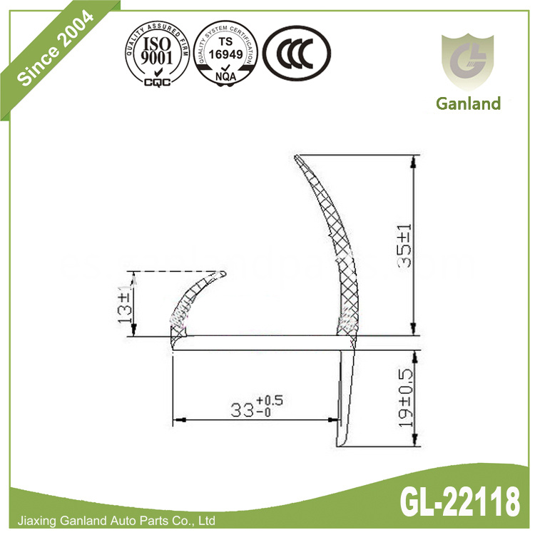 Cargo Truck Weather Seal gl-22118