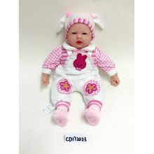 "18"" Rose Red Printing Baby Vinyl Doll"