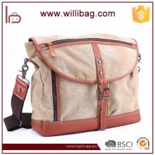 Cross Strap Leinwand Messenger Bag Männer benutzerdefinierte Messenger Bag