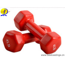 Hot Sales PVC DIP Vinyl Dumbbell Ensemble de haltères colorés