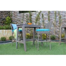 Ensemble de bar en rotin PE de marque 2017 pour meubles en osier pour jardin extérieur