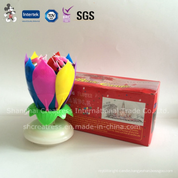 Flower Electronic Music Candle for Birthday Cake Decoration