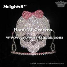 Skull Crowns With Pink Bowknot