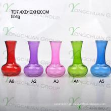 Jóias de vidro de cor baratos, para um dólar loja Vaso de vidro clássico de preço barato