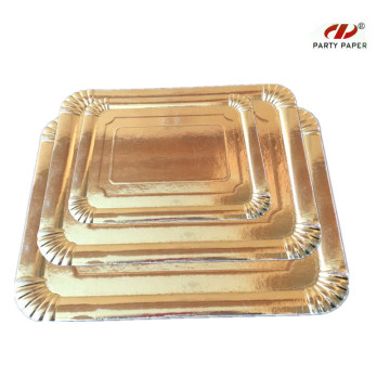 Different Size Disposable Gold  Paper Tray