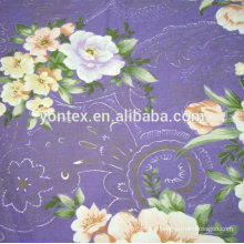 100% cotton Silver Powder Floral Downproof Fabric