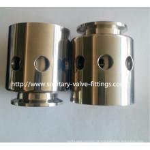 Válvulas de vácuo sanitárias de vácuo de tanque de aço inoxidável