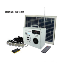 30W solar FM radio kit with 2pcs LED lamps