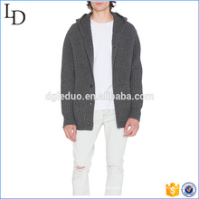 Bolsillos de ojal laterales botones cardigans suéter oem servicio con capucha suéter