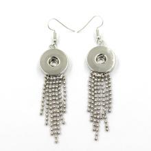 Neuer Entwurfs-silberner Art- und Weiseschmucksachen DIY schnappen Knopf-Ohrring