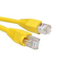 Желтый Высокоскоростной закрытый экранированный коммутационный шнур Cat6