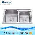 DS8143L évier de cuisine en acier inoxydable machine à double vasque