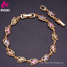 2016 Heißer Verkauf Dubai-Goldart und weise Charme 18k Armband