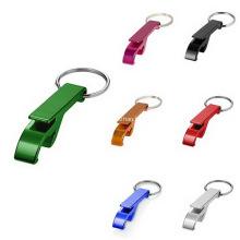 Porte-clés avec ouvre-boîte en métal sur mesure avec logo