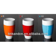 Haonai 2014 фарфоровые кофейные кружки с рукояткой из силикона