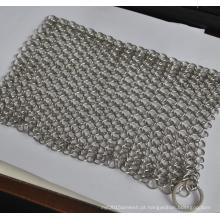 304 aço inoxidável purificador de ferro fundido aço chainmail scrubber