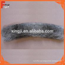 Cuello de piel de conejo genuino de alta calidad