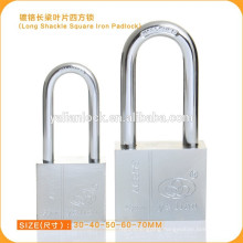 China Hot Sale Chrome Plated Square Iron Padlock