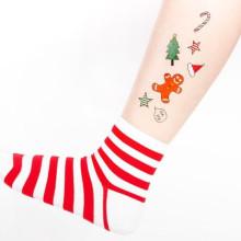 Diseño delicado del arte del tatuaje temporal de la fiesta de Navidad 2017