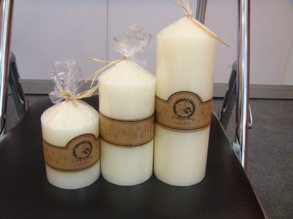 Ivory white church candle1