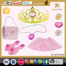 Topo vestido rosa venda Coroa colares crianças brinquedos jogos de vestir menina quente