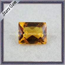 Beautiful Rectangle Shape Semi Previous Stone Citrine