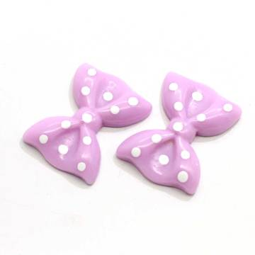 Mixed Color Cabochons Polka Dot Bowknot Bow Tie Flatback Resin For Scrapbooking Craft Embellishments