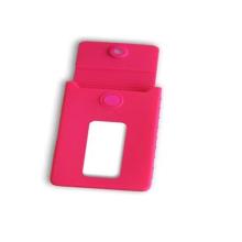 Tarjeta de identificación comercial de silicona colorida LFGB / estuche portatarjetas bancarias