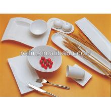 Quente, multa, branca, porcelana, forno, seguro, hotel, panela, jogo, dinnerware