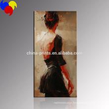Arte bonita da pintura da lona das mulheres / arte da parede da menina da dança para a cópia da lona da decoração / impressão giclee