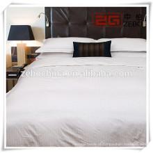100% Algodão Strip King Size 3D Bedding Set para hospital ou hotel