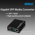 Équipement optique de fibre de convertisseur de médias de SFP de 1000M Gigabit