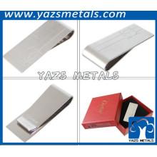 Silberplattierung Stahl leer Geld Clip