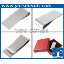 silver plating steel blank money clip