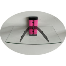 DVD Glass Support/Pink Tube with Clear Glass