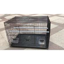 Jaula plegable del animal doméstico de la jaula de pájaros del metal del alambre de acero del metal para Throstle