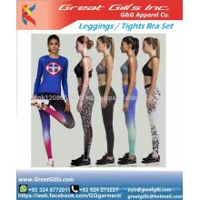 Sublimation Wholesale women sportswear seamless sexy bra & yoga leggings set