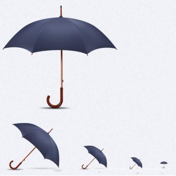 Прямоугольный зонтик с автоматической ручкой (BD-34)