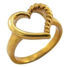 Позолоченное кольцо из 18-каратного золота