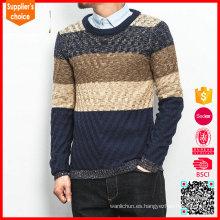 Hot vendiendo patrón jacquard tejiendo hombres suéteres jacquard knitwear modelos