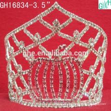 Linda diamante coroa festa festa tiara