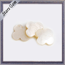 Natural White Beautiful Flower Shape Shell for Jewelry