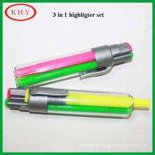 Non Toxic 3 in 1 Multi-color highlighter set