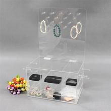 Clear+Acrylic+Jewelry+and+Makeup+Organizer
