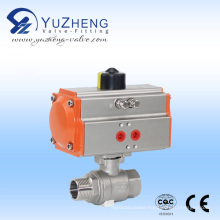 2PC Thread Ball Valve with Pneumatic Actuator