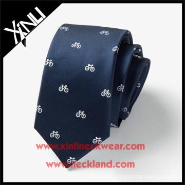 2015 Design 100% Silk Custom Logo Factory Tie Bike