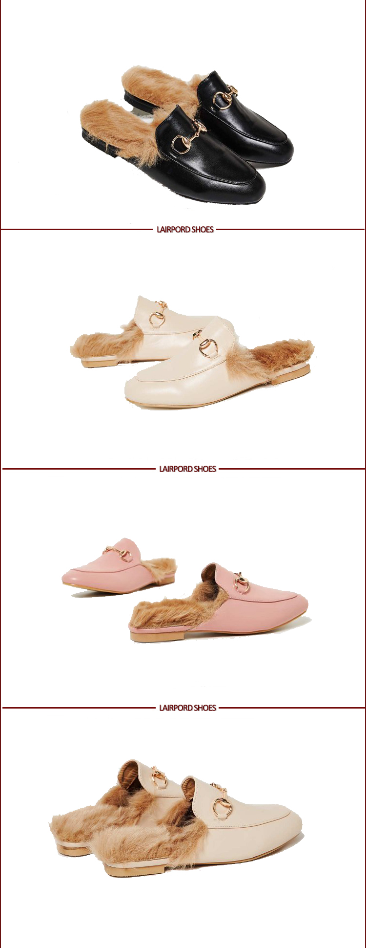 warm winter quality ladies slipper with fur