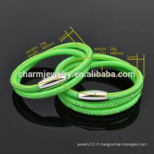 Mode de vie en gros Mode Bracelet en cuir magnifique pour les filles SW-LB007
