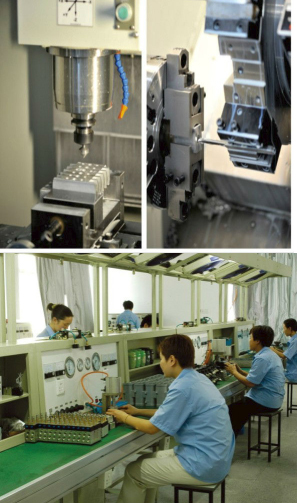 Production machining of DMF-Z-25 electromagnetic filter bags dust clean solenoid pulse valves